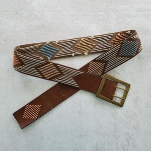 Nine West Boho Leather Belt Sz.L